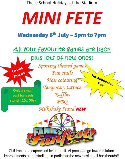 Mini Fete at Stadium | Deniliquin News Service